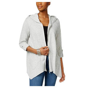 NWT Style & Co Womens Grey Hoodie S